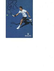 Roger Federer 4x6 autographed color photo