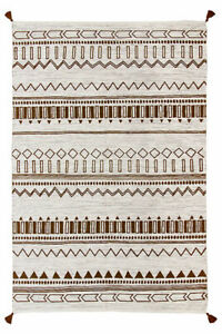 HAND MADE GOLD BENI cotton durrie rug from oriental weavers 120 x 170 cm