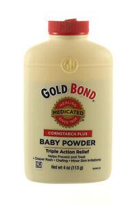 GOLD BOND CORNSTARCH PLUS MEDICATED BABY POWDER 4 OZ TRIPLE ACTION RELIEF