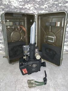 KOLLSMAN Bubble Navigational Sextant Aircraft Periscope Vintage w/Case B-31