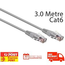 3SIXT Ethernet Cable Cat 6 Round - 3.0m - Grey | Brand New Retail Boxed