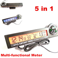 Digital LCD Car Cigarette Lighter Volt Voltage Gauge Meter Thermo Monitor 12V