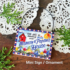 DecoWords Wood Ornament Mamaw Papaw Wood Mini Sign Gift All Relatives USA New