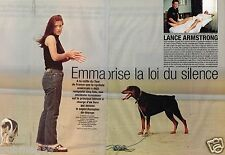 Coupure de Presse Clipping 2004 (4 pages) Lance Armstrong Emma sort du silence