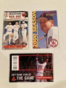 31 Boston Red Sox Portland Sea Dogs Pocket Schedules Lot Mint