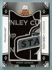MARIO LEMIEUX 2017/18 BLACK DIAMOND TEAM LOGO JUMBO STANLEY CUP PATCH PENGUINS