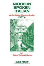 Modern Spoken Italian Part A by Elaine V. Baran (1981, Paperback)