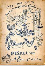 bollettino ebraico Pesach 5707 (1947)
