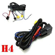 H4 Headlight 2 Headlamp Ceramic Relay Wiring Harness Light Bulb Socket Plug Kit