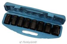 "8pc 3/4"" inch Deep Impact Metric Socket Set Sockets 26.27.29.30.32.35.36.38mm"