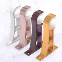 5 Color High-quality Heavy Duty Metal Curtain Pole Rod Wall Bracket Holder New