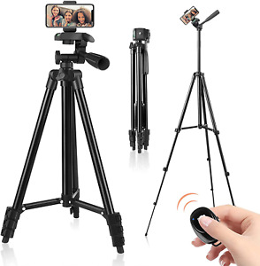 """51"""" Cell Phone Tripod for iPhone Holder Remote Shutter for Selfies Video Record"""