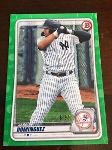 2020 Bowman Draft Jasson Dominguez Green Parallel Paper #6/99 Yankees