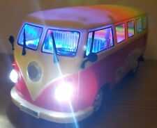LARGE VW CAMPER VAN BUS BUMP & GO CAR LED COLOURFUL LIGHTS MUSIC BOYS GIRLS TOYS