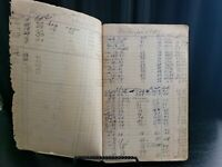 Vintage 1950's Illinois National Ledger Farm Expenses Old Book Blue