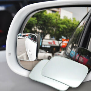 2x Universal Car Auto 360° Wide Angle Convex Rear Side View Blind Spot Mirror S