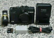 Canon PowerShot G16 12.1MP HD 1080p Camera 5x Zoom Wi-Fi W/ Extras 32GB FR/SHP
