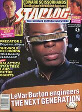 Starlog Magazine LeVar Burton as Geordi La Forge January 1991 #162