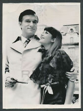 1969 Hugh Heffner, Playboy Founder & Entrepreneur with New Wife Vintage Photo