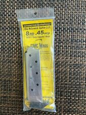 Chip McCormick 1911 Full Size Magazine .45 ACP 8 Rounds Stainless St