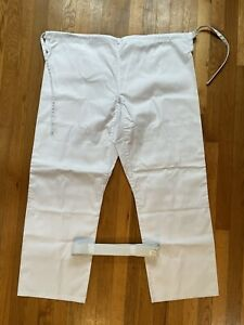 Jiu Jitsu Gi White Pants & White Belt Size 5/190 New