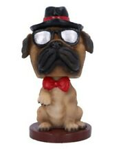 Bobble Pug 11.5cm Fawn Pug Dog with Hat and Shades nemesis now
