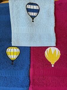 Reduced Discontinued colours of flannels Hot air balloons designs £2.95 inc P&P