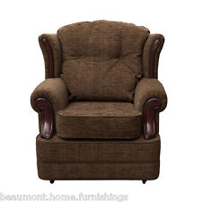 Rheya Crushed Velvet Wing Back Occasional Accent Bedroom Chair Fabric Tub