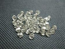 40 Glasschliffperlen Doppelkegel 4mm aqua Beads 7785 K10