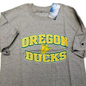 NCAA Oregon Ducks Champion Adult Mens Short Sleeve T-Shirt Gray Size Medium