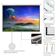 Leadzm 100in Hd Pull Down Manual Projector Screen White