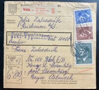 1943 Reichenau Germany Parcel Receipt Cover to Flossenburg Concentration Camp