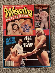 WRESTLING PICTURE BOOK SUMMER 1978 DUSTY RHODES COVER! BOB BACKLUND (VG)
