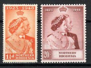 Northern Rhodesia 1948 Royal Silver Wedding MNH