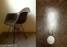 EAMES RARE MOCHA BROWN VTG MEDALLION backward Z HERMAN MILLER CHAIR Eiffel Base