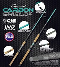 Tsunami Carbon Shield II Inshore Saltwater Spinning Rods