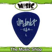 10 x Jim Dunlop Light Poly Guitar Picks - Blue Purple Colour - L Plectrum - Bulk