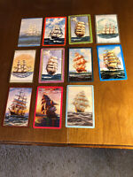 11 Vintage Swap Playing Trading Cards Sailing Ships Ship Boat Card