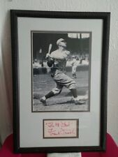 """Frank """"THE OLDFLASH"""" Frisch signed 3x5 index card DISPLAY """"CERTIFIED""""."""