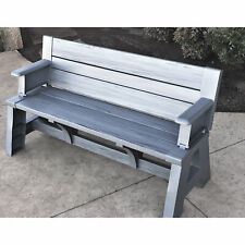 5ft. Outdoor Convert-a-Bench - Platinum Gray
