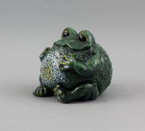 9937336 Sculpture Figure Iron Metal Frog Door Stopper Colourful 8x7, 5cm