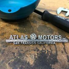 Atlas Motors Volkswagen VW Dealer Emblem Badge okrasa samba kafer zwitter split
