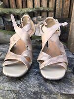 Womens Clarks Sandal Shoes Brown Leather Wedge Heel Shoe UK 7.5 Eur 40