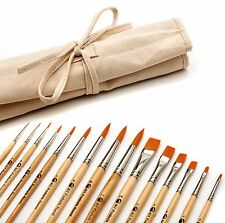 Paint Brush Set, 15 Artist Brushes, Acrylic Oil Watercolor Painting Art Supplies