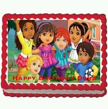 Dora and friends Birthday Party Edible Cake Topper 1/4 sheet