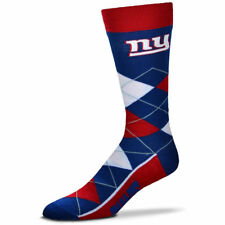 New York Giants NFL For Bare Feet Argyle Crew Socks Large