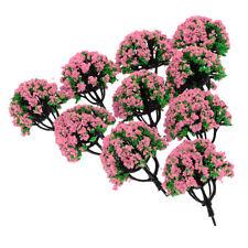 10pc 1:200 Train Railroad Scenery Landscape Model Trees HO Scale Flowers #3