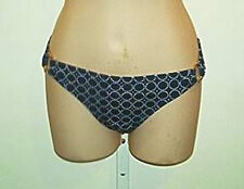 Island Soul NWT  Side Ring Black Print   Bikini Bottoms   M