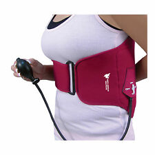 HOT COLD Inflatable Compression Back Wrap Support Lumbar Pain Stiffness Air Pump