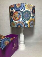20cm/30cm/40cm Lampshade in Liberty of London 'Sunflower' Blue Shades Tana Lawn